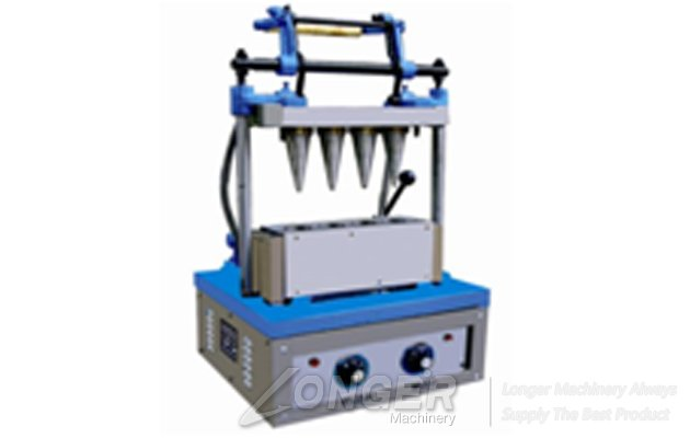 Commercial Stainless Steel 4 Head Ice Cream Cone Making Machine With Hot Price