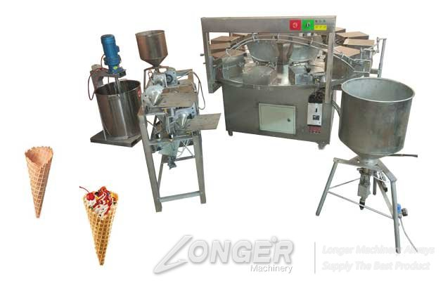 NEW Ice Cream Cone Baking and Rolling Machine for Sale
