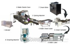Fully-Automatic 45 Moulds Gas Type Wafer Biscuit Production Line